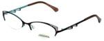 Project Runway Designer Eyeglasses PR122M-171 in Brown Aqua 52mm :: Custom Left & Right Lens
