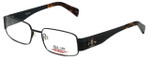 iStamp Designer Eyeglasses XP603M-021 in Black 55mm :: Rx Single Vision