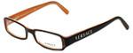 Versace Designer Eyeglasses 3081B-636 in Black Orange 54mm :: Custom Left & Right Lens