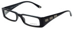 Versace Designer Eyeglasses 3105-GB1 in Black Silver 52mm :: Rx Single Vision