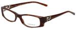 Versace Designer Eyeglasses 3076B-585 in Brown Marble 50mm :: Progressive