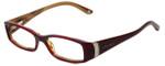 Versace Designer Eyeglasses 3091B-141 in Red Brown 51mm :: Progressive