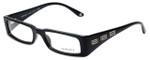 Versace Designer Eyeglasses 3105-GB1 in Black Silver 52mm :: Progressive
