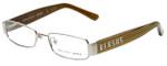 Versus Designer Reading Glasses 7083-1000 in Silver & Gold Stripes 49mm