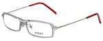 Versus Designer Eyeglasses 7076-1000 in Smoke/Red 49mm :: Rx Bi-Focal