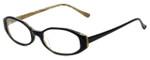 Ellen Tracy Designer Reading Glasses ET3002-BKDA in Black 52mm