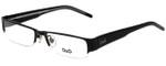Dolce & Gabbana Designer Eyeglasses DG5017-08 in Black 51mm :: Custom Left & Right Lens