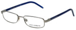 Dolce & Gabbana Designer Eyeglasses DG1105M-083 in Silver Blue 52mm :: Progressive