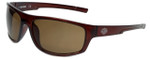 Harley-Davidson Official Designer Sunglasses HD0115V-48E in Brown Frame with Amber Lens