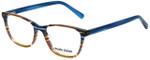 Marie Claire Designer Eyeglasses MC6245-IST in Indigo Stripe 52mm :: Custom Left & Right Lens
