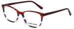 Marie Claire Designer Eyeglasses MC6246-BST in Bordeaux Stripe 53mm :: Custom Left & Right Lens
