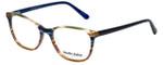 Marie Claire Designer Eyeglasses MC6246-IST in Indigo Stripe 53mm :: Custom Left & Right Lens