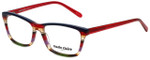Marie Claire Designer Eyeglasses MC6220-SRE in Stripe Red 53mm :: Rx Single Vision