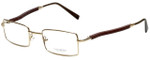 Gold & Wood Designer Eyeglasses 410.6-A6 in Gold 47mm :: Custom Left & Right Lens