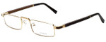 Gold & Wood Designer Eyeglasses Centaur-01 in Gold 52mm :: Custom Left & Right Lens
