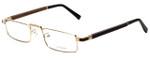 Gold & Wood Designer Eyeglasses Centaur-01 in Gold 52mm :: Rx Bi-Focal