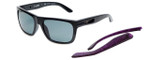 Arnette Designer Sunglasses Dropout AN4176-4181 in Gloss Black & Polarized Grey Lens