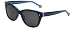 Carolina Herrera Designer Sunglasses SHE596-0800 in Blue Havana