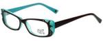 Hilary Duff Designer Eyeglasses HD122372-041 in Brown Blue 50mm :: Progressive
