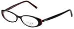 Coach Designer Eyeglasses HC507-001 in Black Pink 48mm :: Progressive