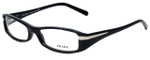 Prada Designer Eyeglasses VPR14H-1AB1O1 in Black 53mm :: Custom Left & Right Lens