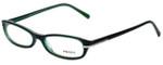 Prada Designer Eyeglasses VPR13G-7OS1O1 in Green 52mm :: Custom Left & Right Lens