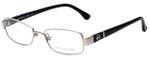 Michael Kors Designer Eyeglasses MK338-045-50 in Silver Black 50mm :: Rx Single Vision