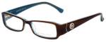 Michael Kors Designer Eyeglasses MK693-200-53 in Dark Brown 53mm :: Rx Single Vision