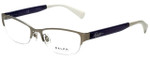 Ralph Lauren Designer Eyeglasses RA6042-170 in Matte Silver 52mm :: Rx Single Vision