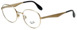 Ray-Ban Designer Eyeglasses RB6343-2860 in Gold 47mm :: Rx Single Vision