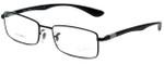 Ray-Ban Designer Eyeglasses LiteforceRB6286-2509 in Black 52mm :: Progressive