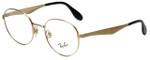 Ray-Ban Designer Eyeglasses RB6343-2860 in Gold 47mm :: Progressive
