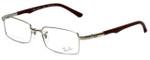 Ray-Ban Designer Eyeglasses RB8667-1002 in Silver Brown 52mm :: Custom Left & Right Lens