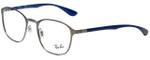 Ray-Ban Designer Eyeglasses RB6357-2878-51 in Gunmetal Blue 51mm :: Custom Left & Right Lens