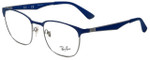 Ray-Ban Designer Eyeglasses RB6356-2876-52 in Silver Blue 52mm :: Rx Single Vision