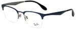 Ray-Ban Designer Eyeglasses RB6360-2863 in Blue Gunmetal 49mm :: Progressive