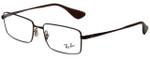 Ray-Ban Designer Eyeglasses RB6337M-2758 in Brown 53mm :: Progressive