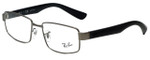 Ray-Ban Designer Eyeglasses RB6319-2620 in Gunmetal Black 55mm :: Custom Left & Right Lens