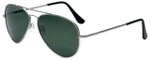 Randolph Designer Sunglasses Concorde CR081 in Matte Chrome with Gray Lens