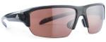 Adidas Designer Sunglasses Kumacross Halfrim in Grey Transparent & Rose Flash Lens