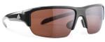 Adidas Designer Sunglasses Kumacross Halfrim in Shiny Black & LST Polarized Silver Lens