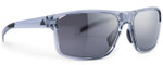 Adidas Designer Sunglasses Whipstart in Shiny Grey & Chrome Mirror Lens