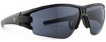 Adidas Designer Sunglasses Evil Eye Halfrim in Matte Black & Grey Lens