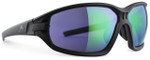 Adidas Designer Sunglasses Evil Eye Evo Basic in Matte Black & Green Mirror Lens