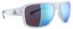 Adidas Designer Sunglasses Jaysor in Crystal Matte & Blue MIrror Lens