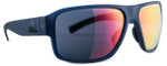 Adidas Designer Sunglasses Jaysor in Blue Transparent Matte & Red Mirror Lens