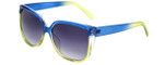 Lucky Brand Designer Sunglasses D906 in Blue-Green with Grey Lens