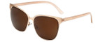 Lucky Brand Designer Sunglasses Doheny in Matte Pink  with Brown Lens