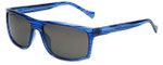 Lucky Brand Designer Sunglasses Refrain in Blue with Grey Lens