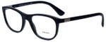 Prada Designer Eyeglasses VPR29S-1BO1O1 in Matte Black 52mm :: Rx Single Vision